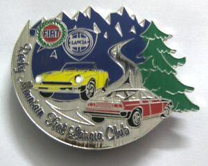 FIAT ROCKY MOUNTAIN FIAT LANCA CLUB CAR GRILL BADGE EMBLEM MG JAGUAR TRIUMPH POR
