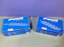 (O4384.9) playmobil 2 boites rails courbes droites RC train wagon ref 4010 4011