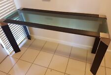 GLASS BUFFET RECTANGLE FURNITURE DARK BROWN/ GLASS TABLE
