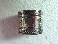 Vintage Victorian Coin Silver Ivy Pattern Napkin Ring #519