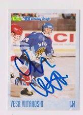 93/94 Classic Draft Hockey Vesa Viitakoshi Finland Autographed Card