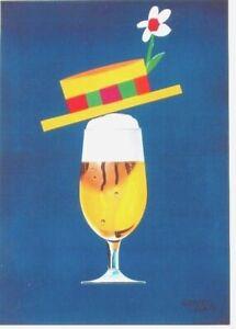 Original vintage poster BEER UNDER STRAWHAT c.1965 Leupin