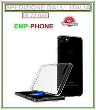 Cover Custodia Trasparente TPU Slim + Pellicola Vetro Per Apple Iphone 7 7 plus