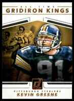 2017 DONRUSS ALL-TIME GRIDIRON KINGS KEVIN GREENE STEELERS #10