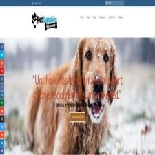 "Fully Stocked Dropshipping PET SUPPLIES Website Store. ""300 Hits A Day"""