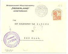 NED INDIE S.M.N. 1928-10-26  SPEC CV  = S.S. J.P. COEN = POSTAGENT  VF!!