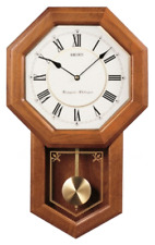 *BRAND NEW* Seiko Light Oak Traditional Schoolhouse Wall Clock QXH110BLH