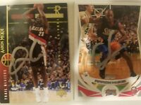 aaron mckie signed 2 cards lot two autographed cards nba auto basketball 76ers