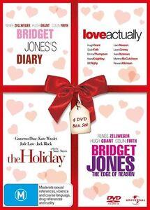 BRIDGET JONES'S DIARY+LOVE ACTUALLY+THE HOLIDAY+BRIDGET JONES EDGE DVD NEW/SEALD