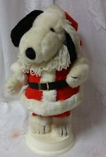Vintage Snoopy Santa Animated Motion Christmas Decoration Rare