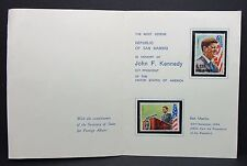 San marino us president Kennedy stamps lettre (i-4575