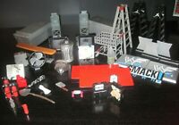 WWE WCW Wrestling Accessories Lot Tables Ladders Catapults Trash Can Speakers TV