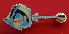 Hard Rock Cafe Pin Badge Honolulu Hawaii USA America Fish Design Electric Guitar
