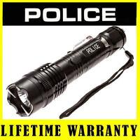POLICE Stun Gun 1158 58 Billion Max Voltage Metal Rechargeable LED Flashlight