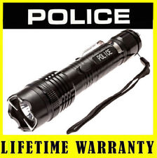 POLICE METAL Stun Gun 1158 78 BV Rechargeable With LED Flashlight + Taser Case