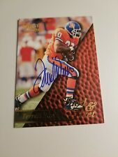 Terrell Davis signed 96 select card Denver Broncos autographed