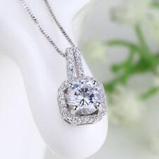 Anhänger für Halskette Quadrat echt Sterling Silber 925 Zirkonia Damen
