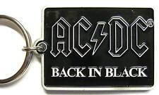 "AC/DC porte clé # 9/métal ""BACK IN BLACK"" - KEYCHAIN"