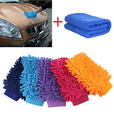 Car Cleaning Brush Cleaner Tools Microfiber Cloth Towel Wash Gloves Supply New