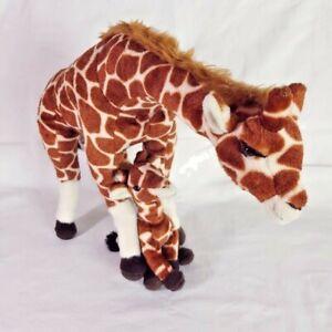 Giraffe Mama Baby Plush Stuffed Animal Toy Toys R Us Animal Alley Standing NWOT