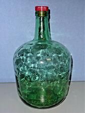Vintage Viresa Weinballon 5L Glasballon Gärballon Glas Flasche grün Höhe 33cm