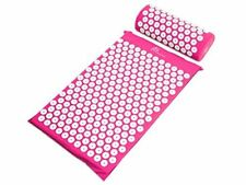 ProSource Acupressure Mat and Pillow Set for Back/Neck Pain Relief and