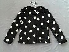 GUESS Kids Black & White Faux Fur Polka Dot Coat/ Jacket Sz 10 - Girls