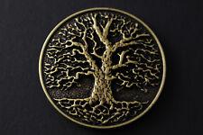 CIRCULAR GOLD TREE OF LIFE BELT BUCKLE METAL