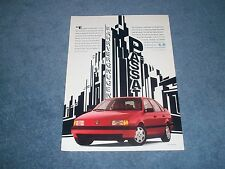 """1991 Volkswagen Passat Vintage Ad """"Fahrvergnugen"""""""