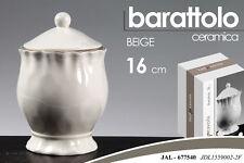 BARATTOLO CONTENITORE IN CERAMICA BEIGE 16CM JAL-677540