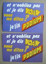 CLAUDE FRANCOIS - lot 2 CP je lis PODIUM - cartes postales