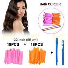 36xMagic Curlers 55CM Long Hair Spiral Leverage Rollers Hook Beauty No Heat Home