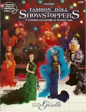 Fashion Doll Showstoppers Crochet Costume Gown Patterns for Barbie Giselle NEW
