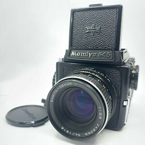【NEAR MINT】 MAMIYA M645 + Waist Level Finder + SEKOR C 80mm f/2.8 from Japan 997