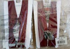 2 x Topman Burgundy Skinny Trouser Braces New w/ Tags £20 Suit Smart Fancy Dress