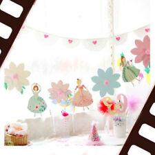 Princess Flower Girls Birthday Party Banner Bunting Garlnd Home Decor