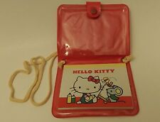 Rare Vintage 1976 Sanrio Hello Kitty Vinyl Purse Style Note Pad Pouch Paper Set