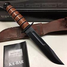KNIFE COLTELLO KA-BAR USMC **ORIGINALE 100% MADE IN USA** SURVIVOR CACCIA (CFL)