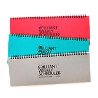 PAPERIAN Brilliant Weekly Scheduler - Wirebound Undated Weekly Planner Pad
