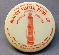 rare c.1922 Beacon Visible Pump Louisville Ky dexterity pocket gambling game *