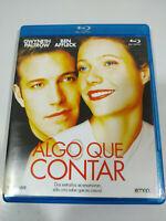 Algo que Contar Gwyneth Paltrow Ben Affleck - Blu-Ray Español Ingles - 3T