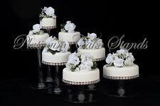 7 Tier Round Cascade Wedding Cake Stand Cupcake Stand (Style R700)