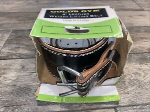 New Open Box Golds Gym Black Weight-Lifting Leather Belt L/XL Large / XLarge Mem