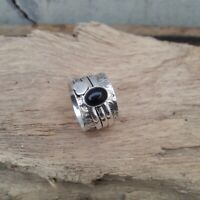 Black Onyx Solid 925 Sterling Silver Spinner Meditation Statement Ring V881