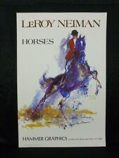 Leroy Neiman Signed Horses Equestrian Lithograph JSA H39678
