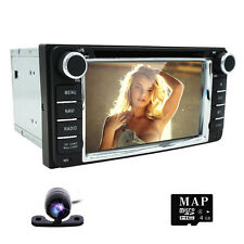 "Double 2 DIN 6.2"" Touch UI Car Stereo CD DVD MP3 Radio GPS Navigation for TOYOTA"