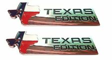 -TWO- XL TEXAS EDITION Emblem Badge Ford 150 250 350 Tailgate Universal Stick-On