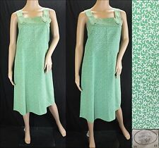Vintage 1970s RARE Laura Ashley Pinafore Dress Smock Floral Green Wales 10 12UK