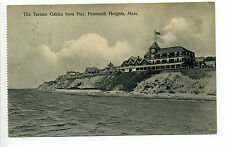 Falmouth Heights MA Mass Terrace Gables from pier, homes, shoreline, 1917