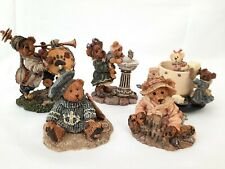 Lot (5) Boyds Bears Bearstone Collection Figurines with Boxes- At The Beach